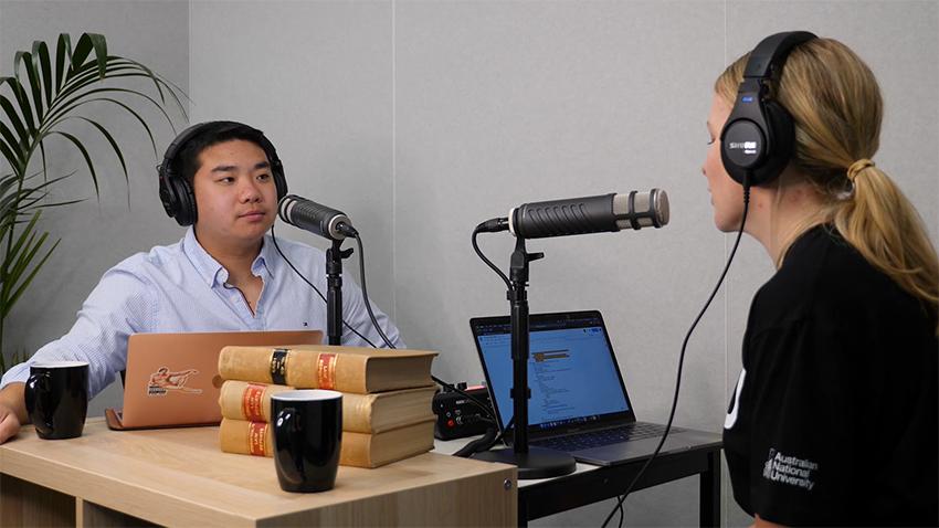 podcast at ANU